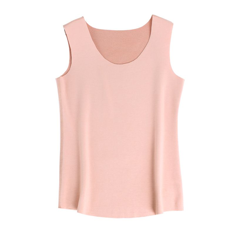 Womens Tank Top Self-heating Inner Mulberry Silk fabric Sueding