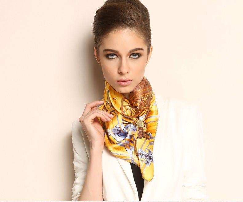 Elegant Pure Plain Silk Scarf Shawl Printing Large Square 35  1021130481