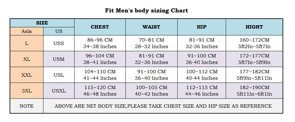 fitted body size