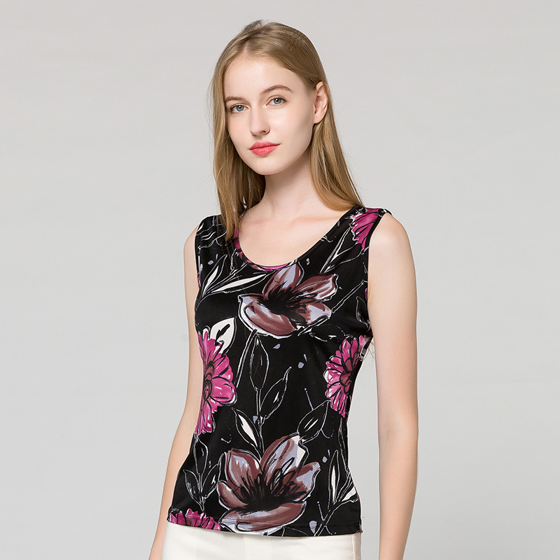 2021 Printed Pajamas Set Ladies Sexy Nighties Women Top
