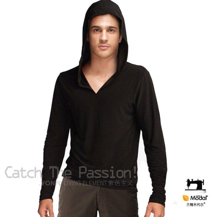 Men Modal Hoodies Pullover Hoode Sweatshirt 5083