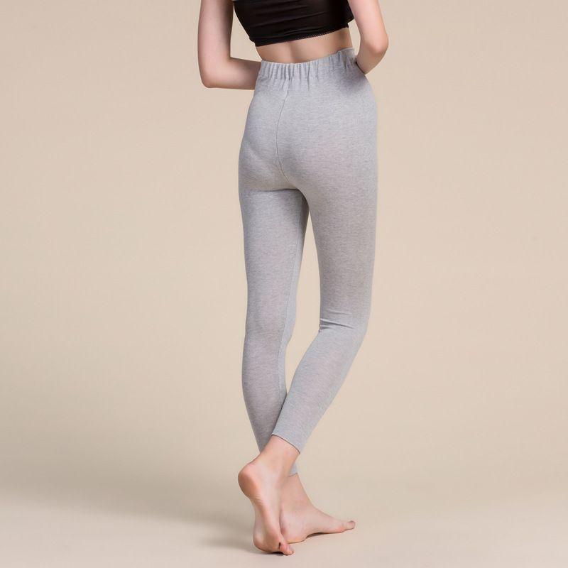 Womens Silk Cashmere Blend Under Pants Bottom Gray Back