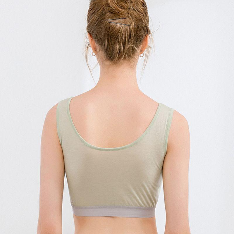 Women's Natural Silk Sports Underwear Wire-free Push-up Seamless Vest  Style bra
