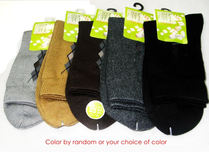 3Pair Hoisery Knit Silk/Cashmere Thick Socks 24-26
