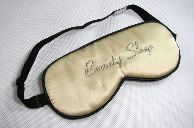 One New Silk Beauty Sleep Text Eye Cover Sleep Mask Shade