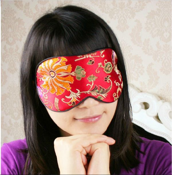 One New Silk Floral Brocade Eye Cover Sleep Mask Shade