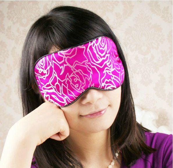 One New Silk Floral Brocade Eye Cover Sleep Mask Shade