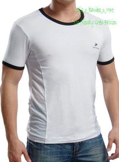 NWT Sexy Men Bamboo Short Sleeves Mesh Shirt Top 009