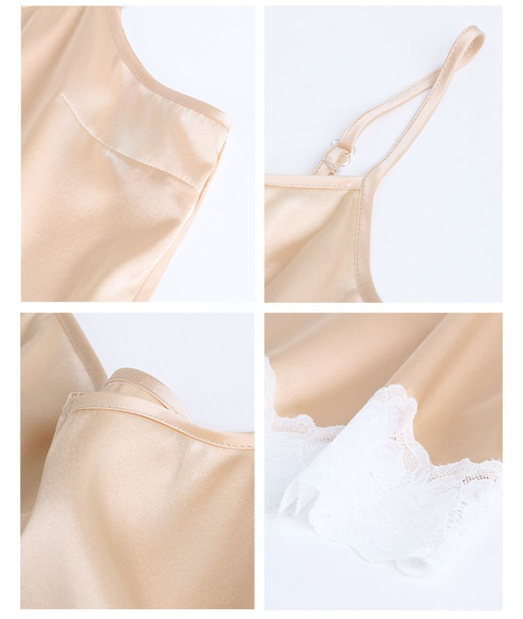 Natural Silk Satin With Spandex Women's Tube Lacy Top Comfortable Lining Camisole