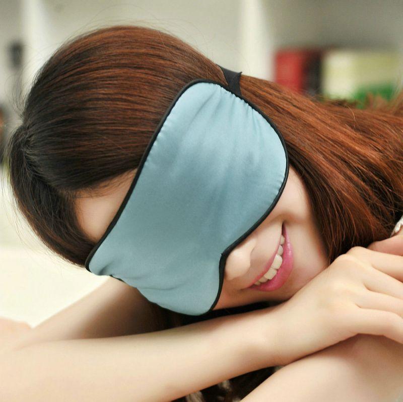 Pure silk eye mask