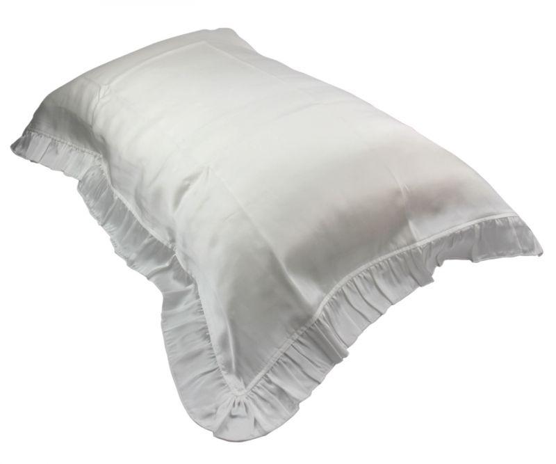 Soft Silk Envelope Pillowcase With Flouncing Hem