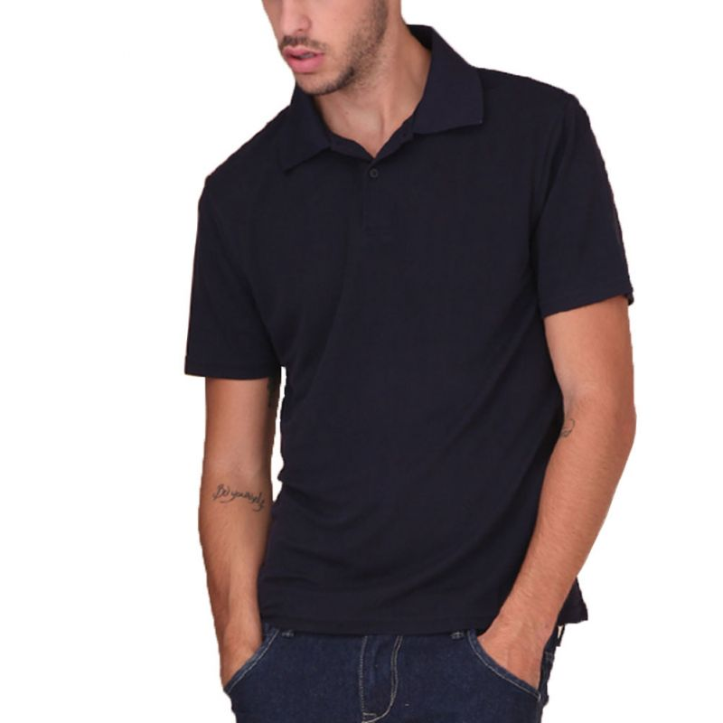 Pure Silk Knit Mens Polo T-Shirt Turndown Collar Short Sleeves Solid US S M L