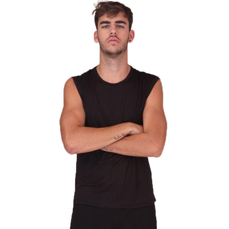 Pure Silk Knit Mens Wide Shoulder Tank Top Vest Solid US S M L