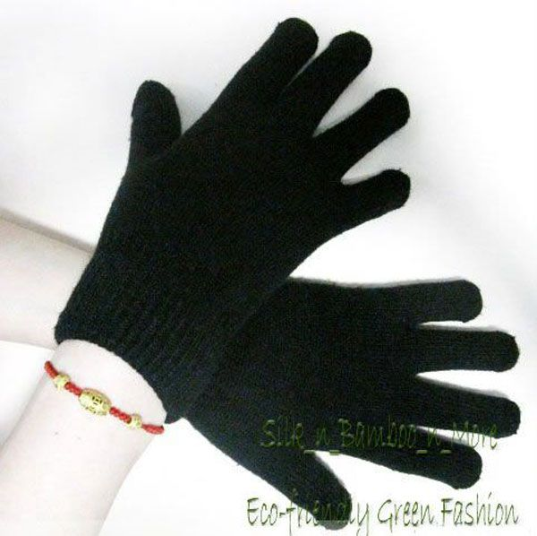 1Pair Unisex Knit Silk/Cashmere Magic Thick Gloves